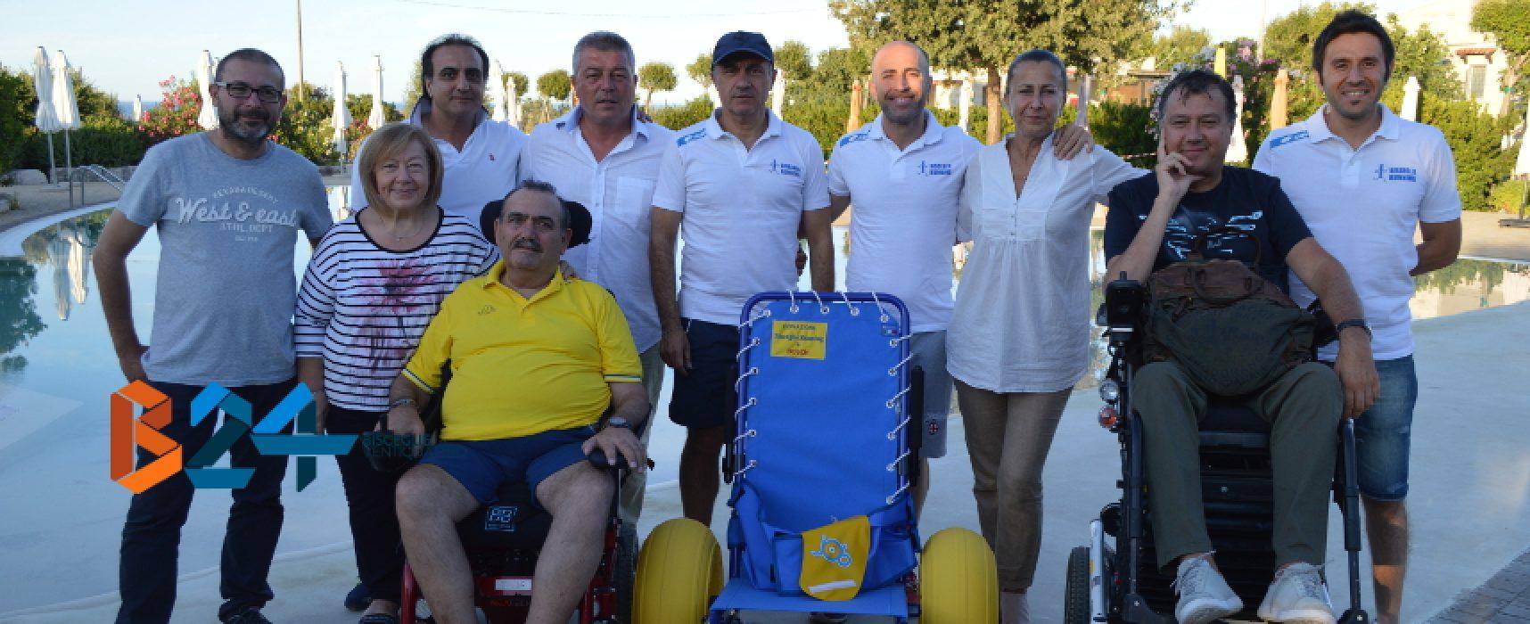 """Connubio Cooperativa Kairos-Bisceglie Running, consegnata carrozzella a """"Brezza tra gli ulivi"""""""