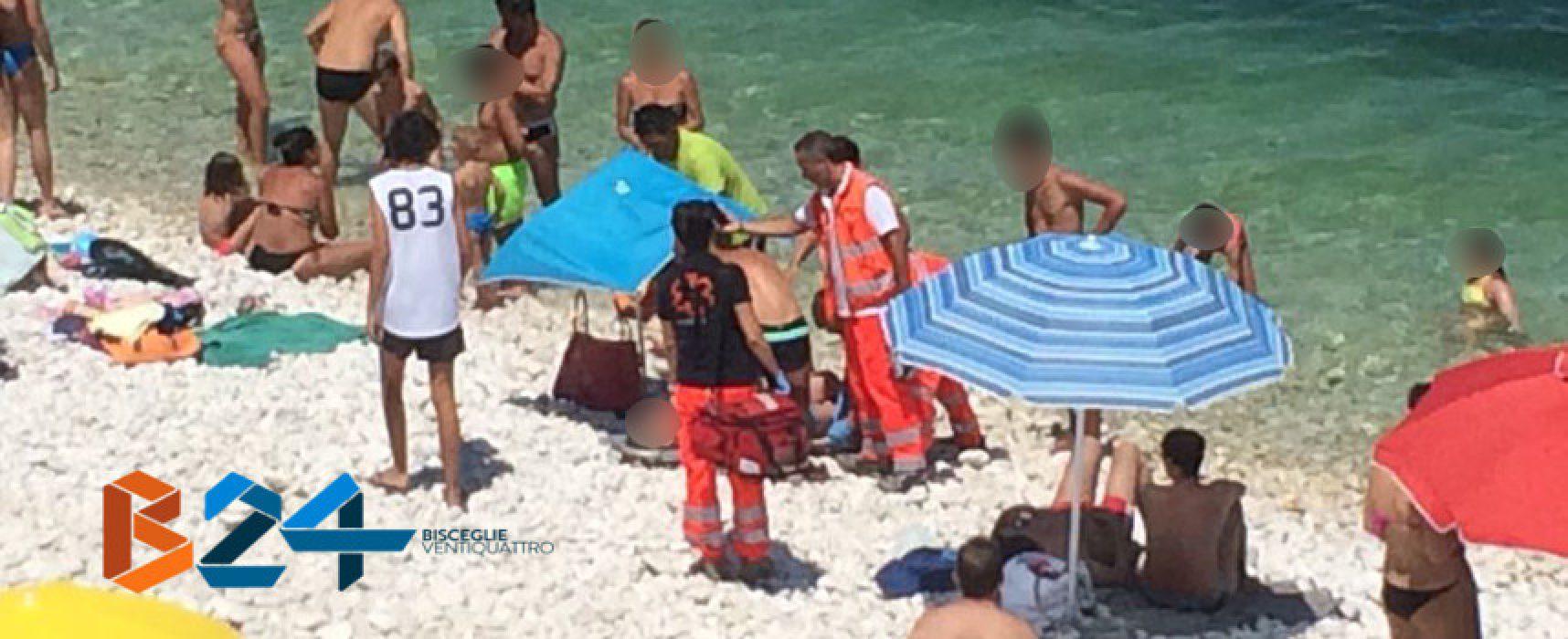 Malore in spiaggia, donna biscegliese finisce al pronto soccorso
