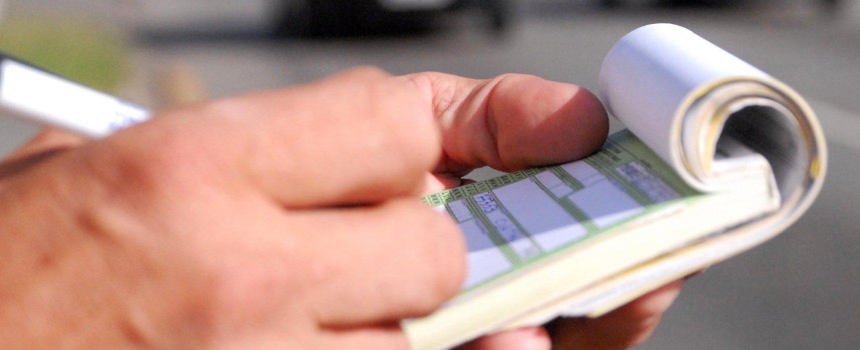 Multe codice stradale, previste entrate per un milione e mezzo di euro