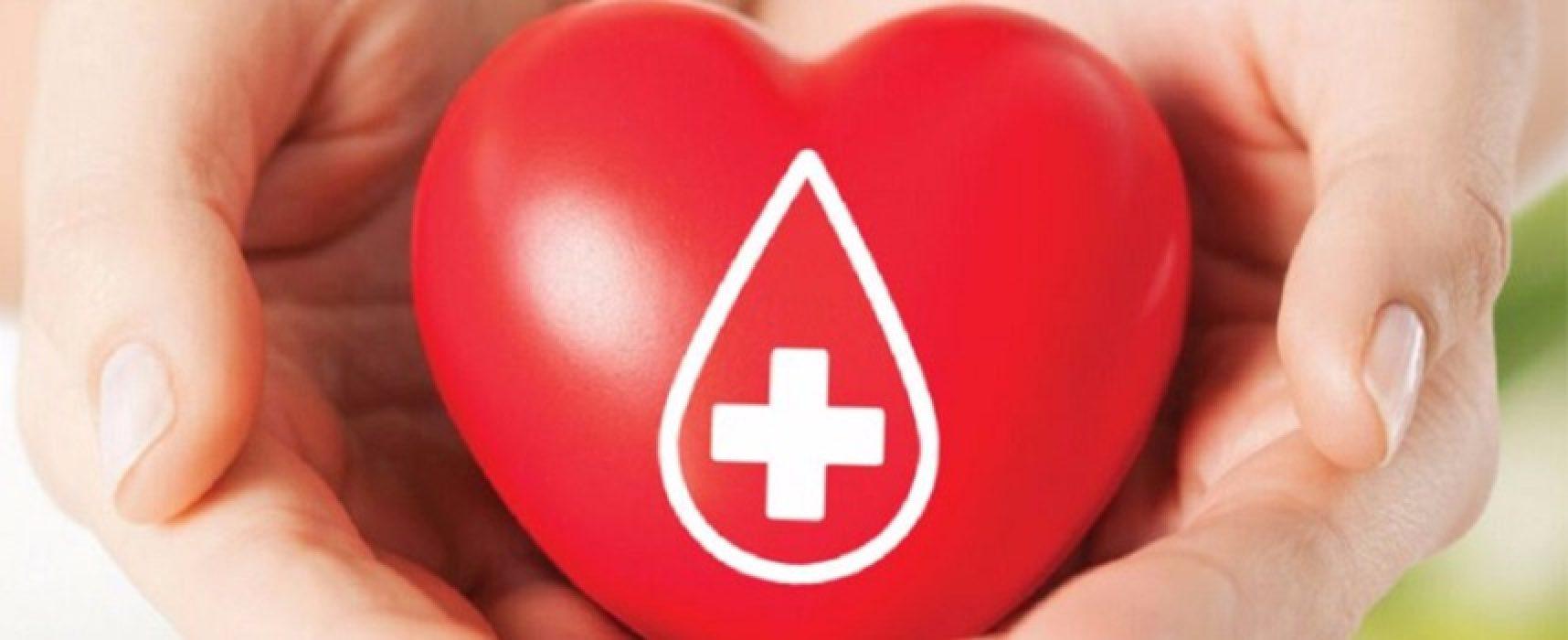 """Fratres"" organizza a Bisceglie una raccolta straordinaria di sangue"
