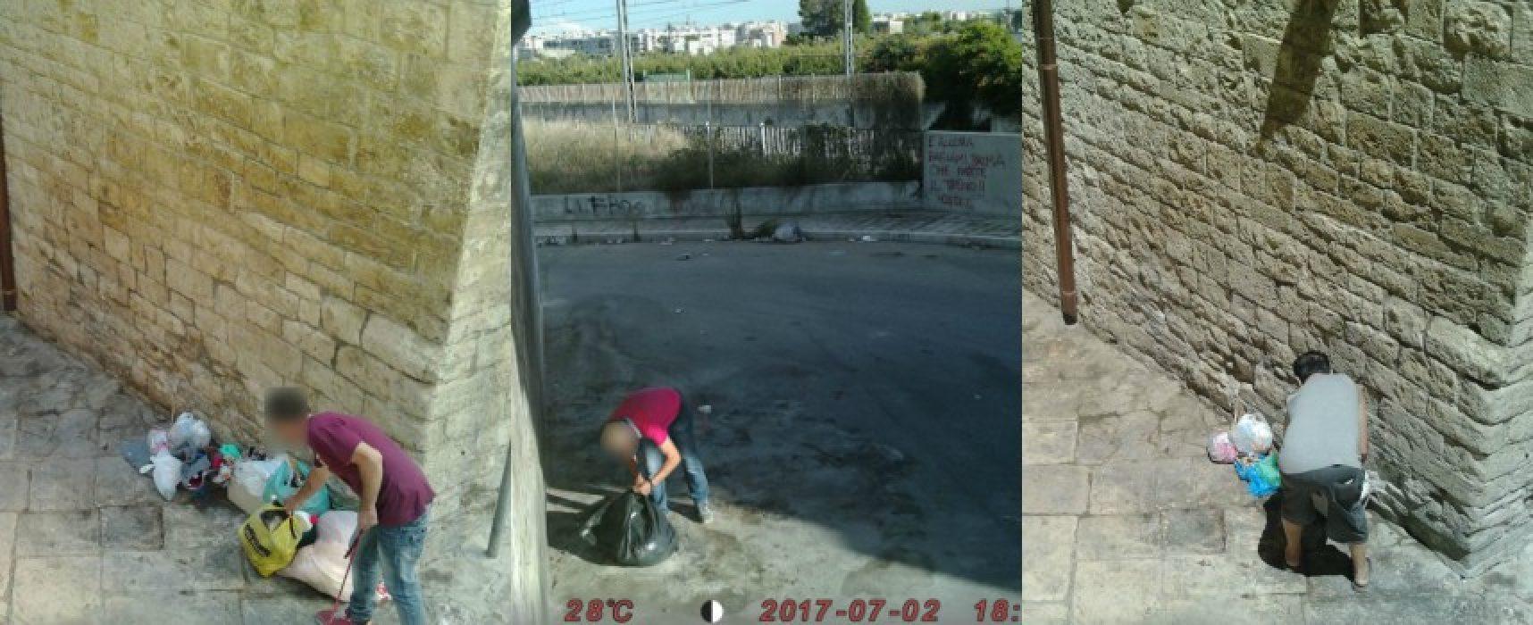 Rifiuti gettati in strada, fototrappole immortalano altri sporcaccioni /FOTO