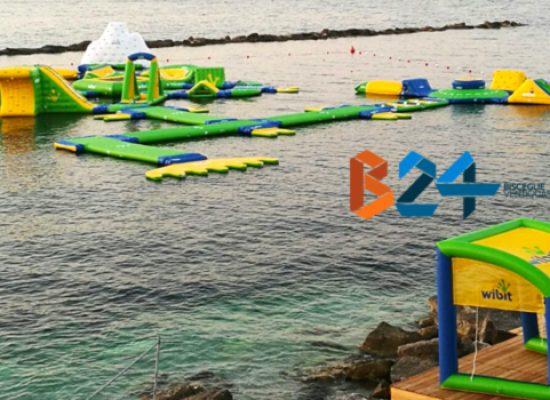 Si inaugura a Bisceglie il primo acquapark in mare del sud Italia