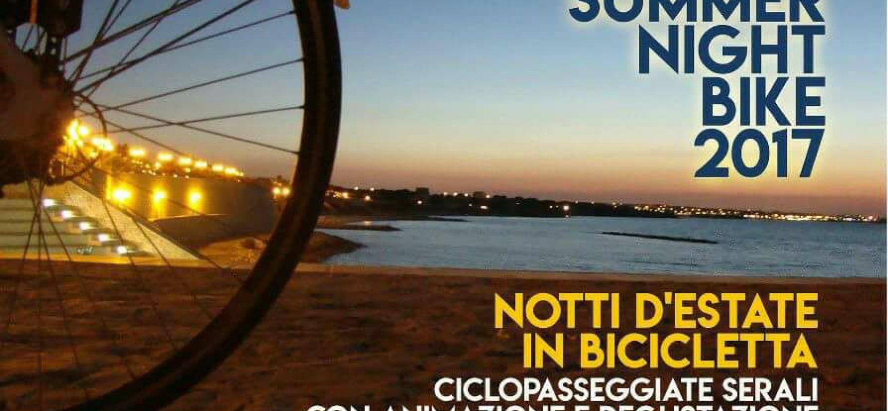 Terzo appuntamento con la Summer Night Bike, promosso dall'associazione Biciliae