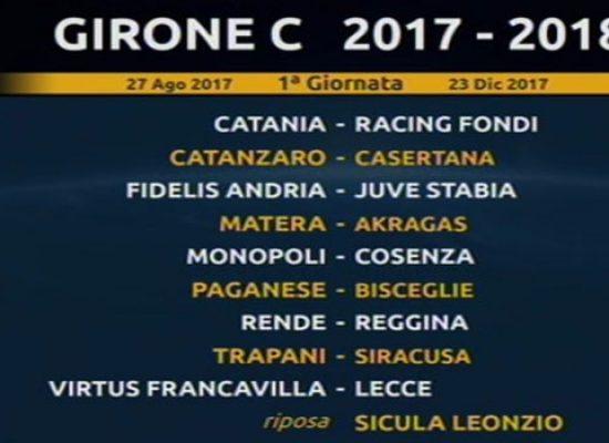 Sorteggio calendari serie C: Paganese-Bisceglie alla prima di campionato