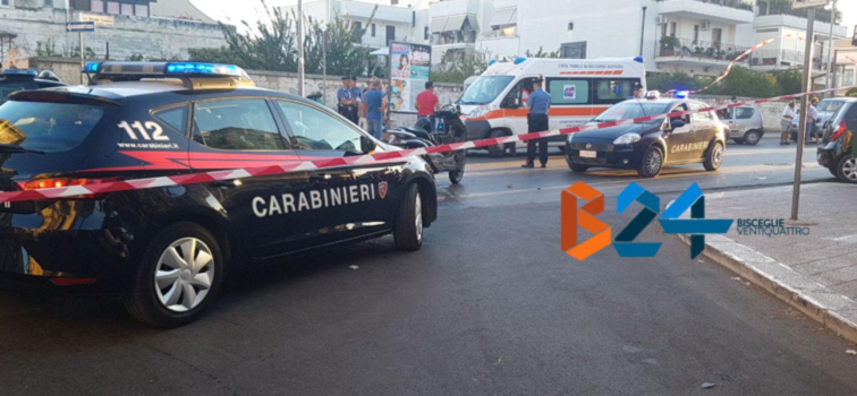 Inseguimento carabinieri-motociclo termina con incidente, fermati due biscegliesi