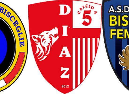 Calcio a 5, definiti i gironi di Futsal Bisceglie, Diaz e Bisceglie Femminile