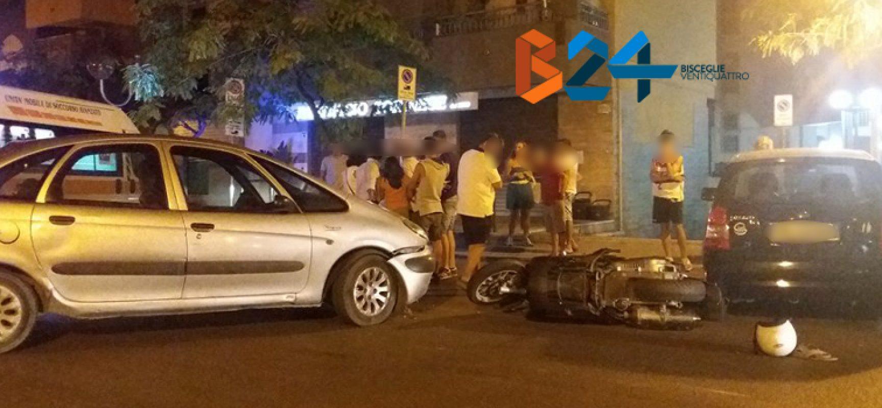 Scontro auto-scooter in via Veneto, 42enne al pronto soccorso