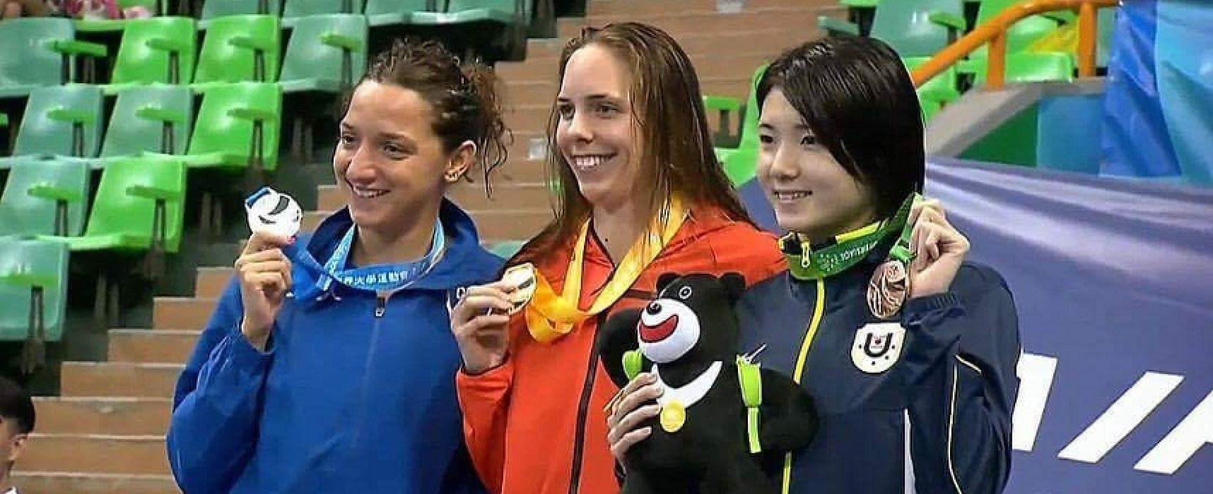 Universiadi, Elena Di Liddo è medaglia d'argento nei 50 farfalla