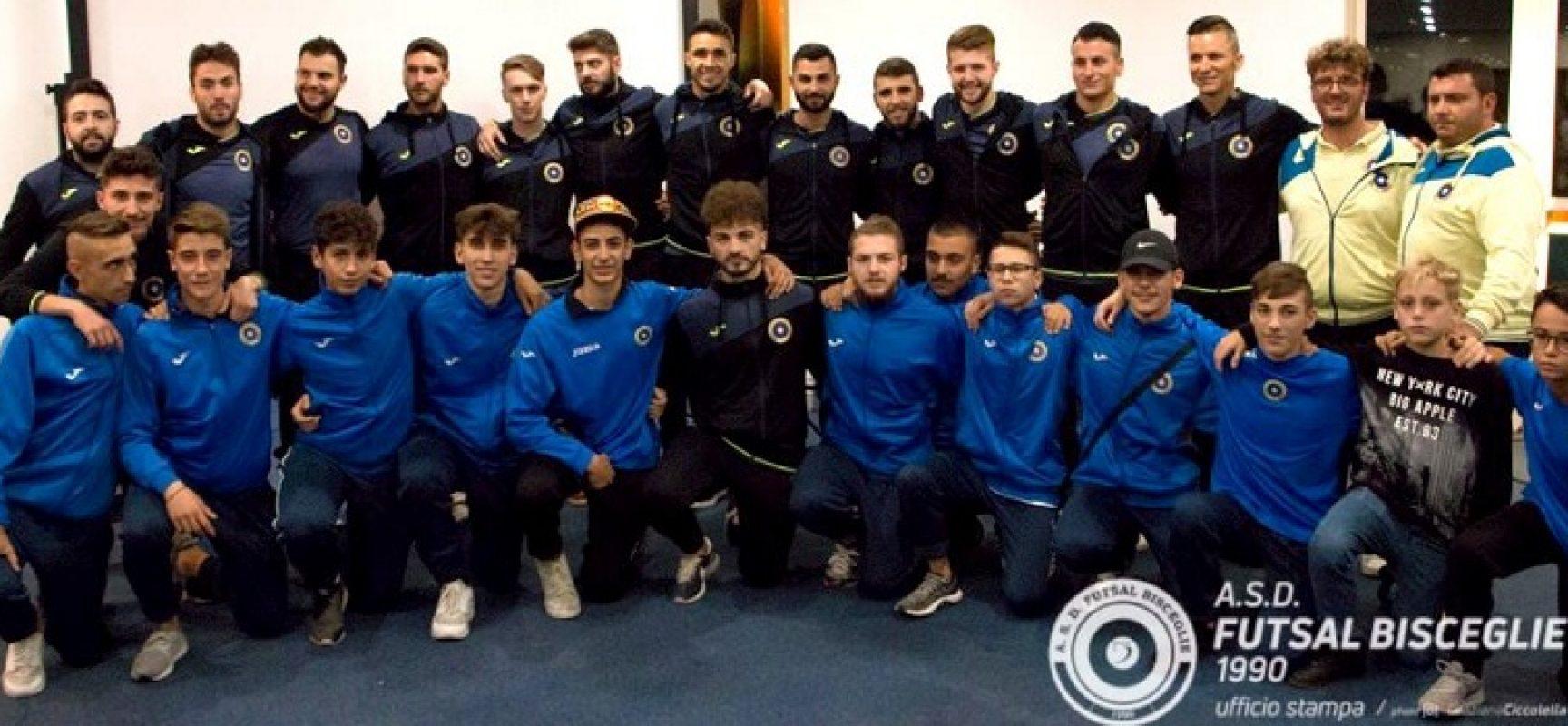 Entusiasmo e partecipazione alla presentazione ufficiale del Futsal Bisceglie