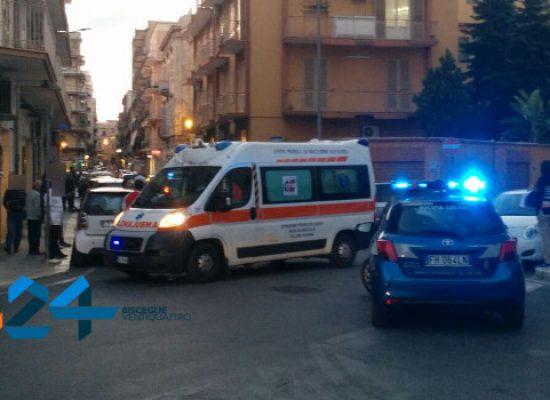 Incidente auto-scooter in via Monte San Michele, un ferito al pronto soccorso