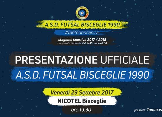 Futsal Bisceglie, domani la presentazione ufficiale al Nicotel