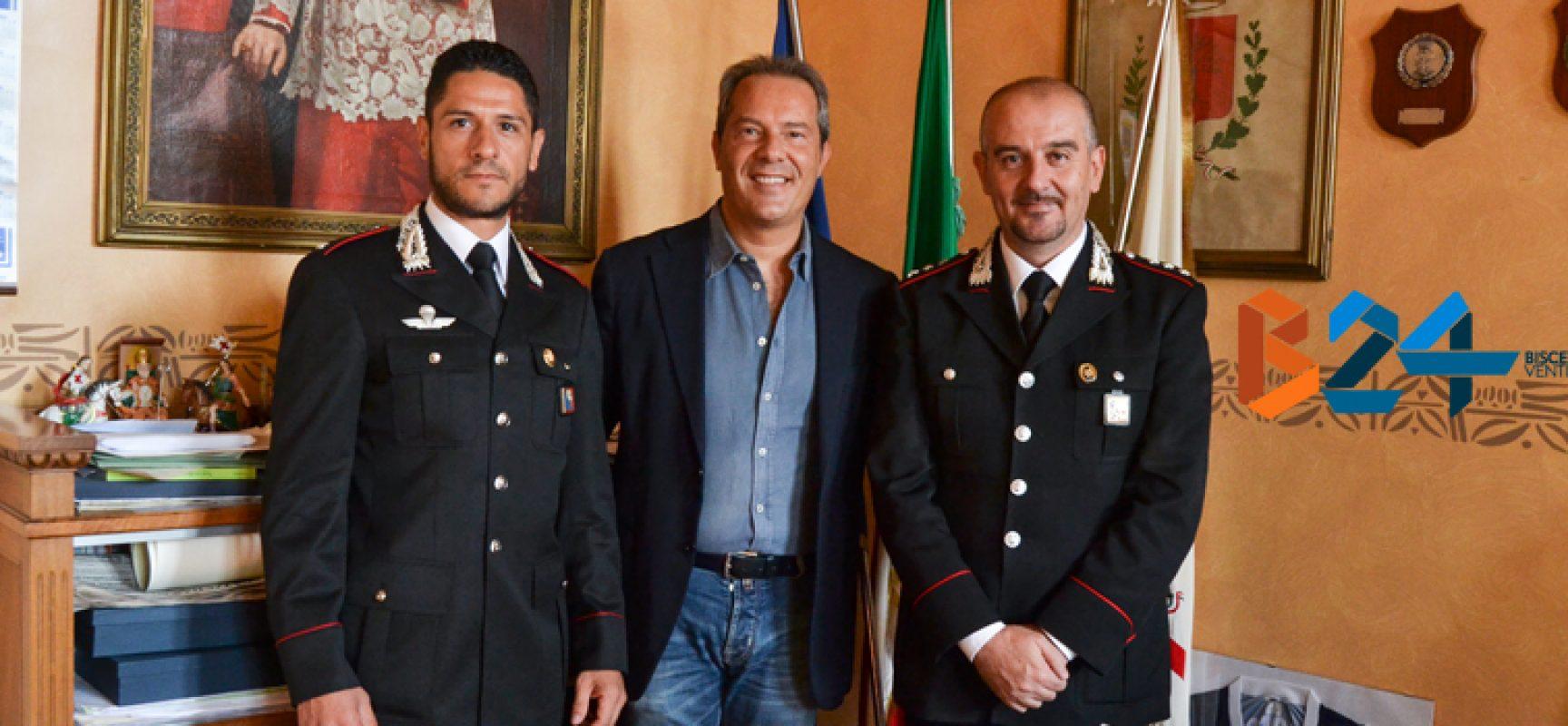 Il Capitano Riccardi saluta il sindaco e la città, arriva il Sottotenente Caputo