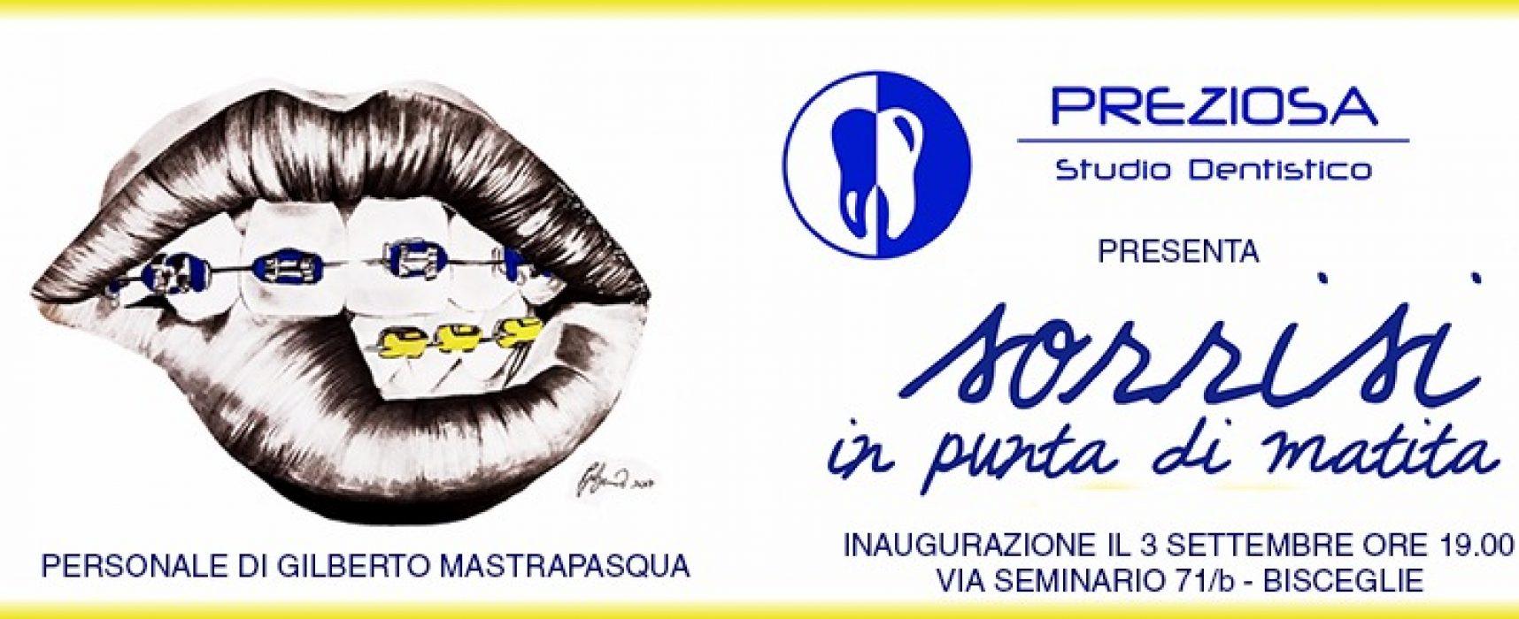 Studio dentistico si trasforma in galleria d'arte con i disegni di Gilberto Mastrapasqua