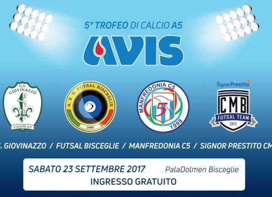 Futsal Bisceglie, domani c'è il quinto Trofeo Avis