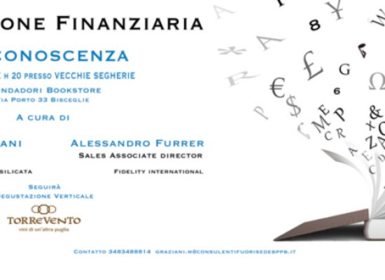 """Stasera """"Degustazione finanziaria"""" al bookstore Mondadori"""