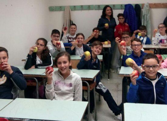 Solidarietà: nelle scuole medie Battisti-Ferraris e Monterisi merenda con le mele dell'Aism