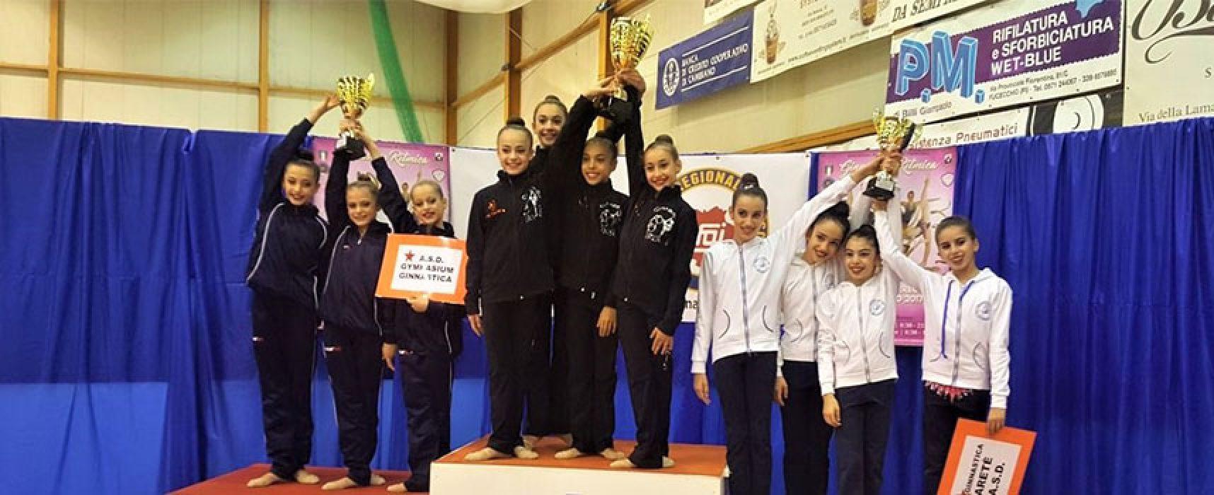 Ginnastica Ritmica Iris vittoriosa al Campionato di C Gold con le biscegliesi Di Lollo Capurso e Storelli