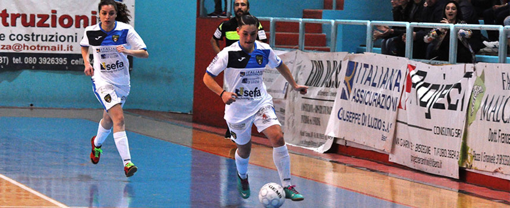 Bisceglie Femminile, primo stop in campionato al fotofinish contro l'AZ Gold Futsal / CLASSIFICA