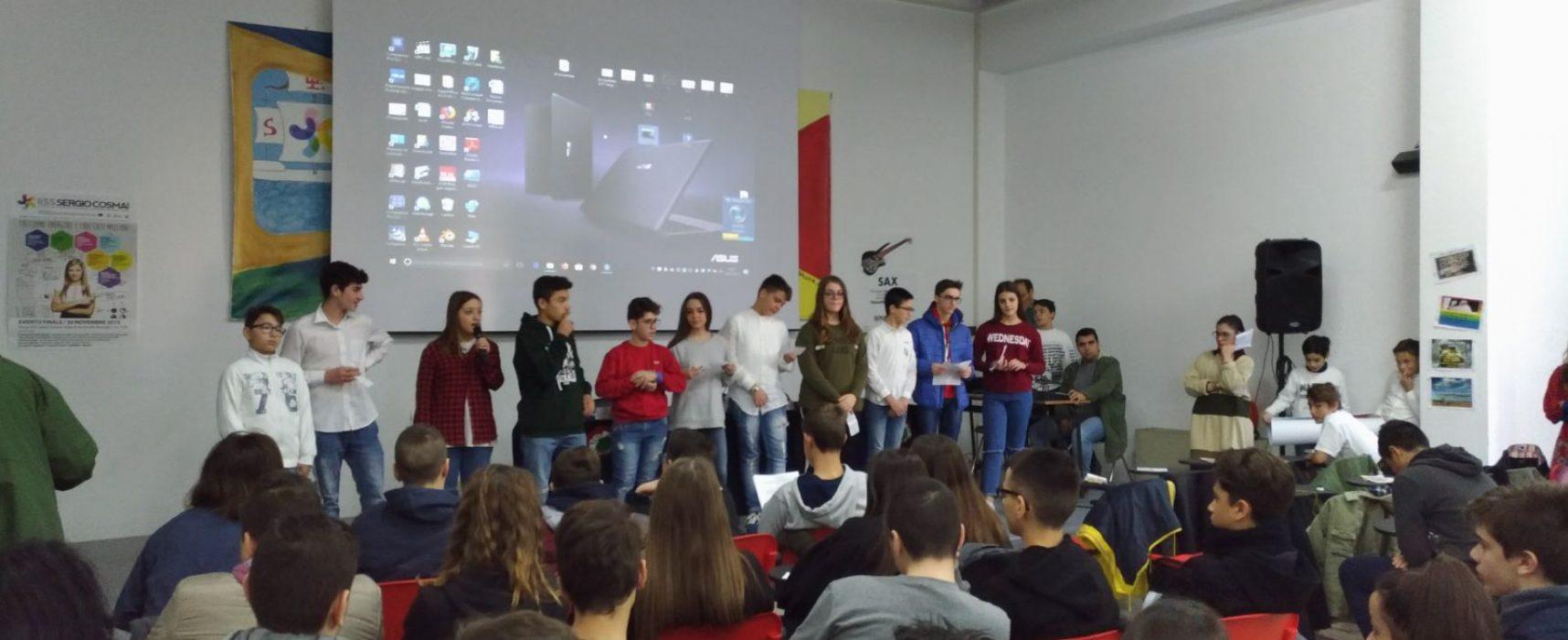 """Giornata di condivisione didattica realizzata dagli alunni delle scuole """"Riccardo Monterisi"""" e """"Sergio Cosmai"""""""