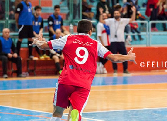 De Cillis serve il tris, Diaz corsara in casa del Futsal Brindisi