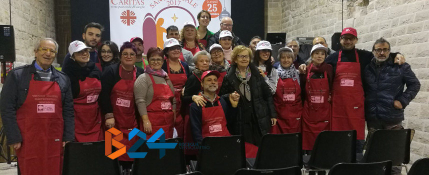 Tradizionale pranzo di Natale della Caritas alle Vecchie Segherie Mastrotoraro /VIDEO