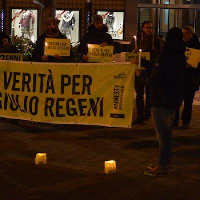 """""""Quattro anni senza Giulio"""", Amnesty Bisceglie in piazza: verità per il caso Regeni"""