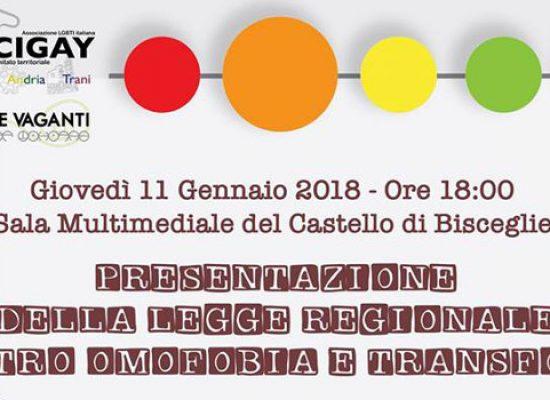 Arcigay Bat, incontro di presentazione legge regionale omofobia e transfobia