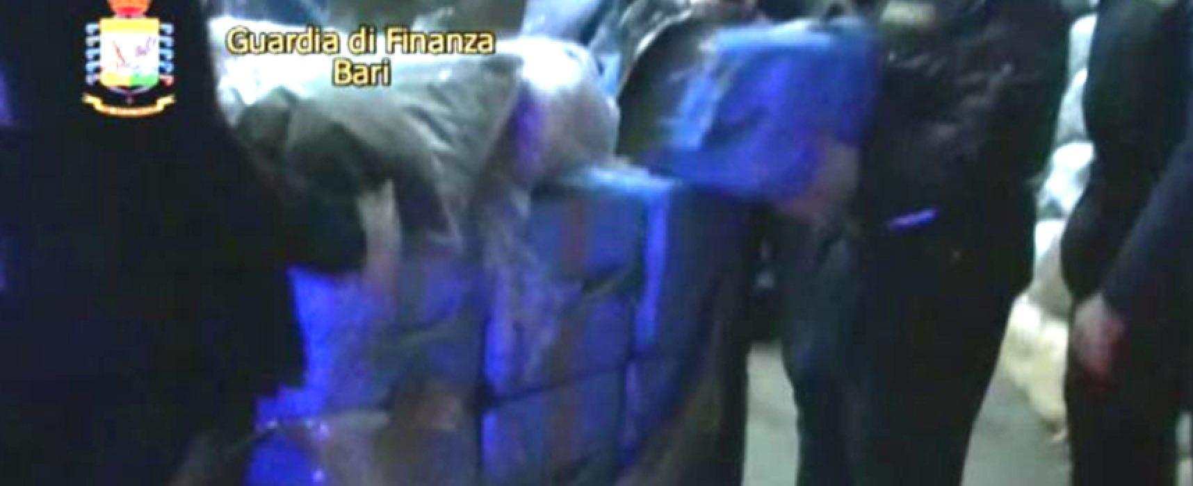 Otto quintali di droga sequestrati a Bisceglie, 3 arresti / DETTAGLI E VIDEO