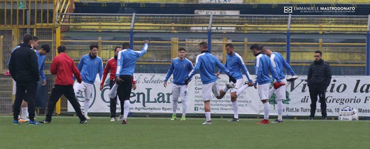Bisceglie calcio a lavoro in vista del match con l'Akragas, novità nello staff tecnico