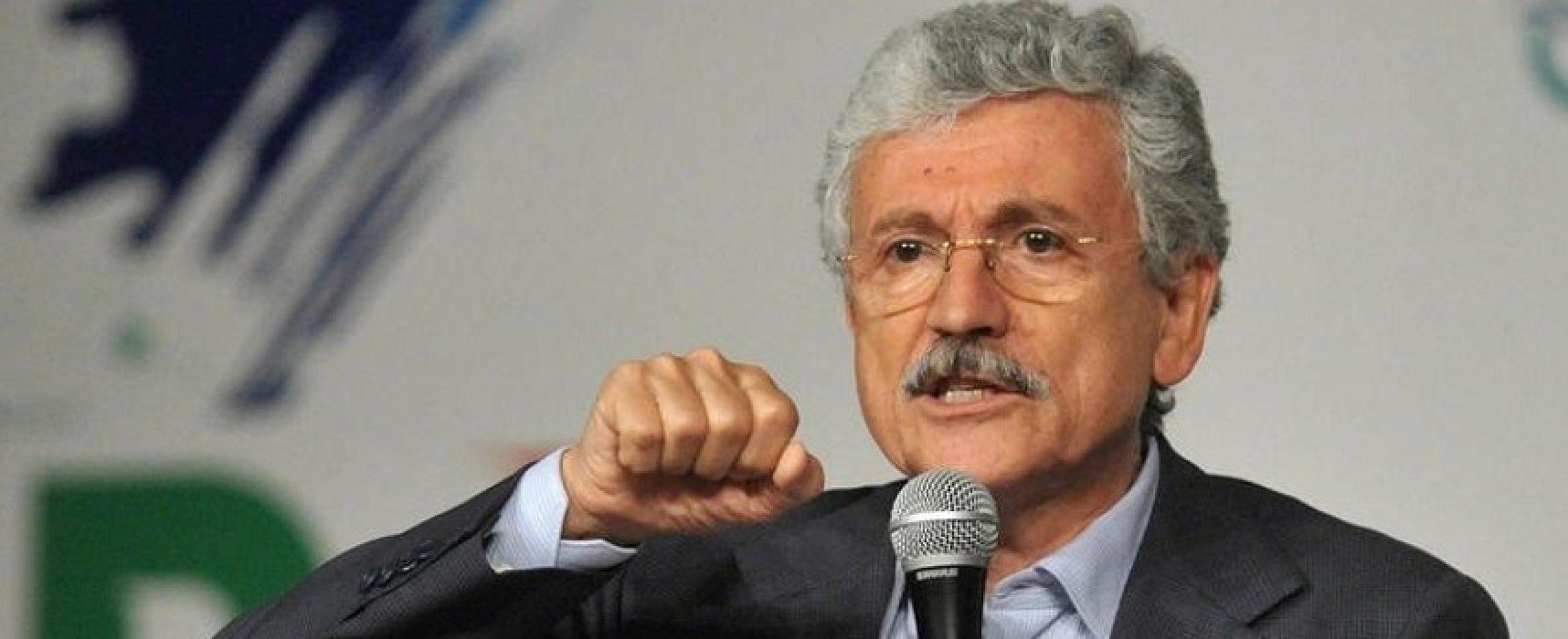 Liberi e Uguali, Massimo D'Alema oggi a Bisceglie per parlare di sanità