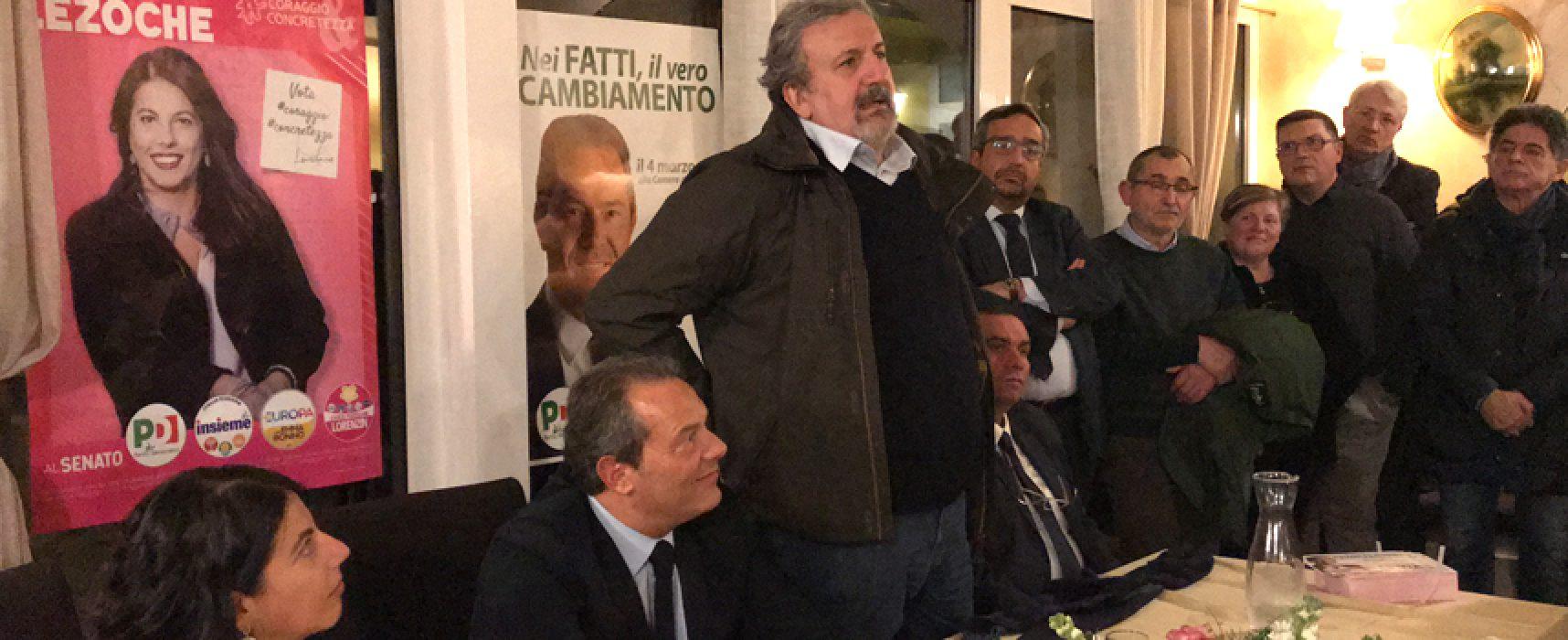 """Politica: Emiliano a Bisceglie, Spina: """"Grande fronte unito"""""""