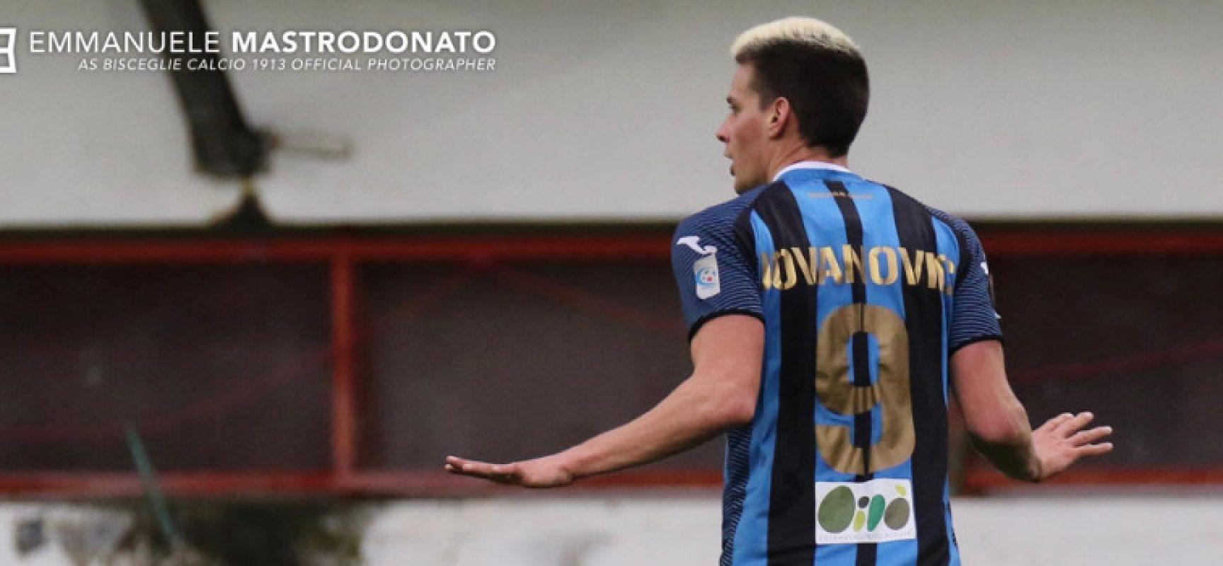Bisceglie calcio, oggi match impegnativo contro la Casertana con un Jovanovic in più