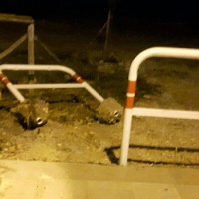 Pista ciclabile Ripalta, barriera installata e già divelta