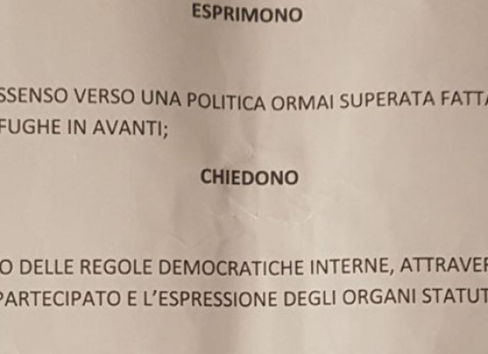 Pd, ecco il documento anti-Napoletano / FOTO