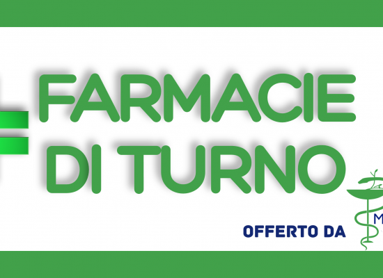 Farmacie di turno dal 23 al 29 novembre