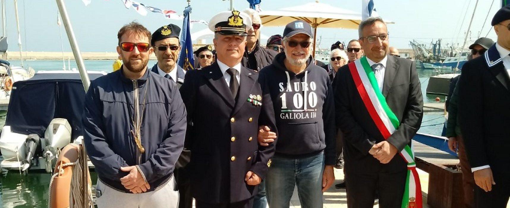 L'ammiraglio Romano Sauro a Bisceglie per ricordare suo nonno Nazario / FOTO