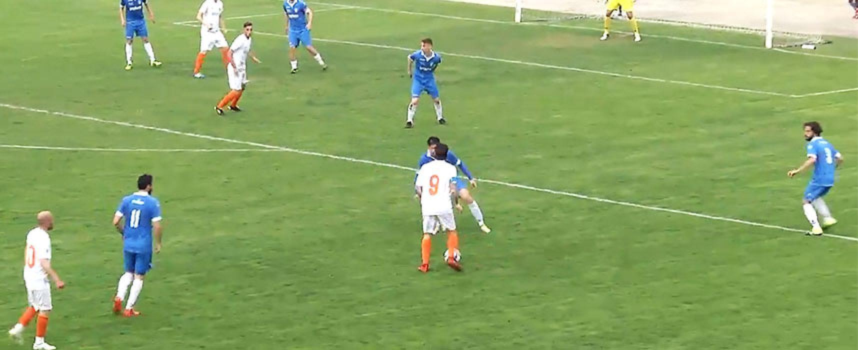 Unione Calcio raggiunta nel finale a Bitonto dall'Omnia / CLASSIFICA