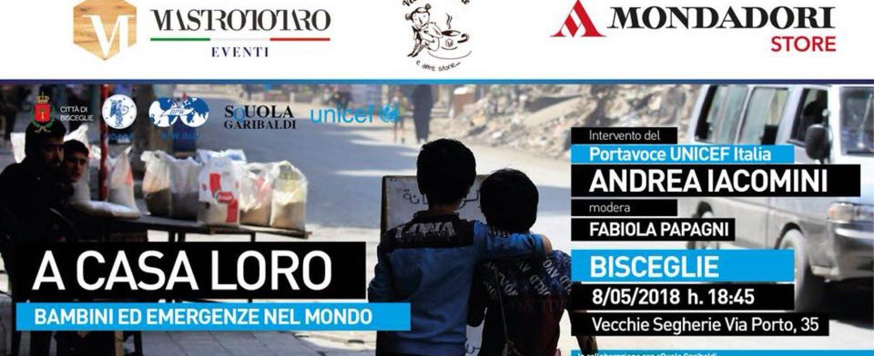 """""""A casa loro: bambini ed emergenze nel mondo"""", il portavoce Unicef Italia a Bisceglie"""