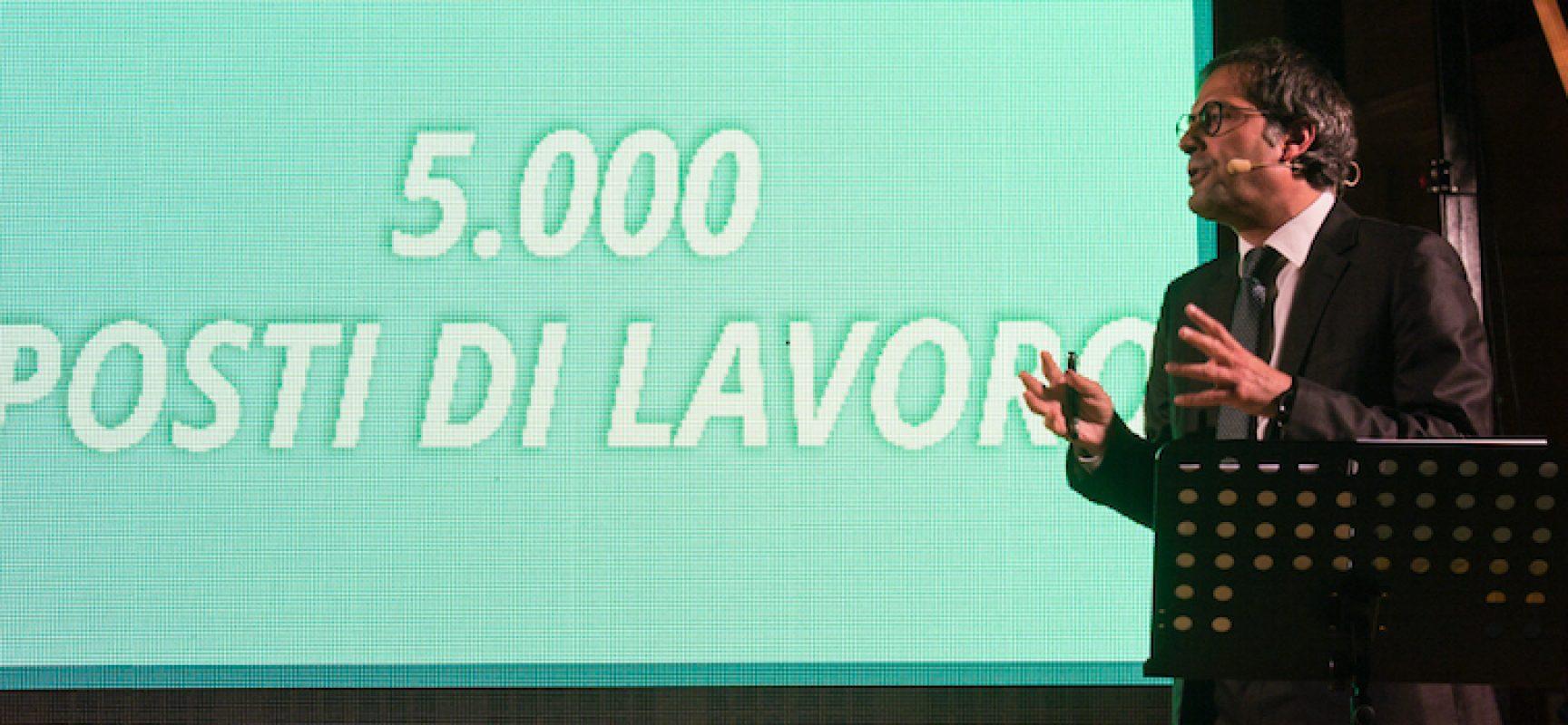 """""""Un passo alla Svolta"""", Angarano annuncia 5mila posti di lavoro in dieci anni"""