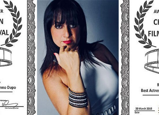 "L'attrice biscegliese Rossella Di Liddo premiata al ""Christian Film Festival"""
