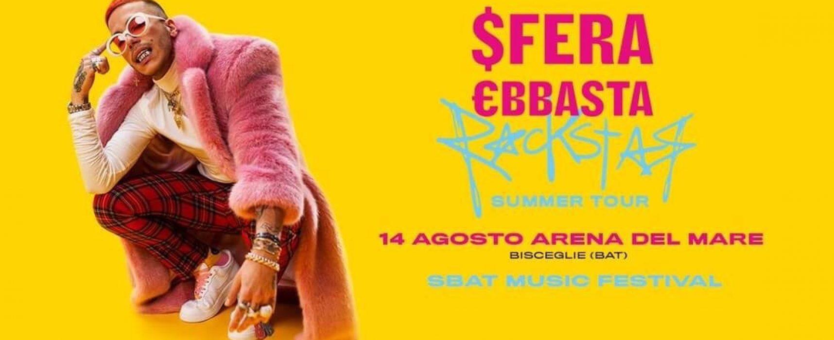 Sfera Ebbasta in concerto a Bisceglie questa estate, biglietti già in vendita