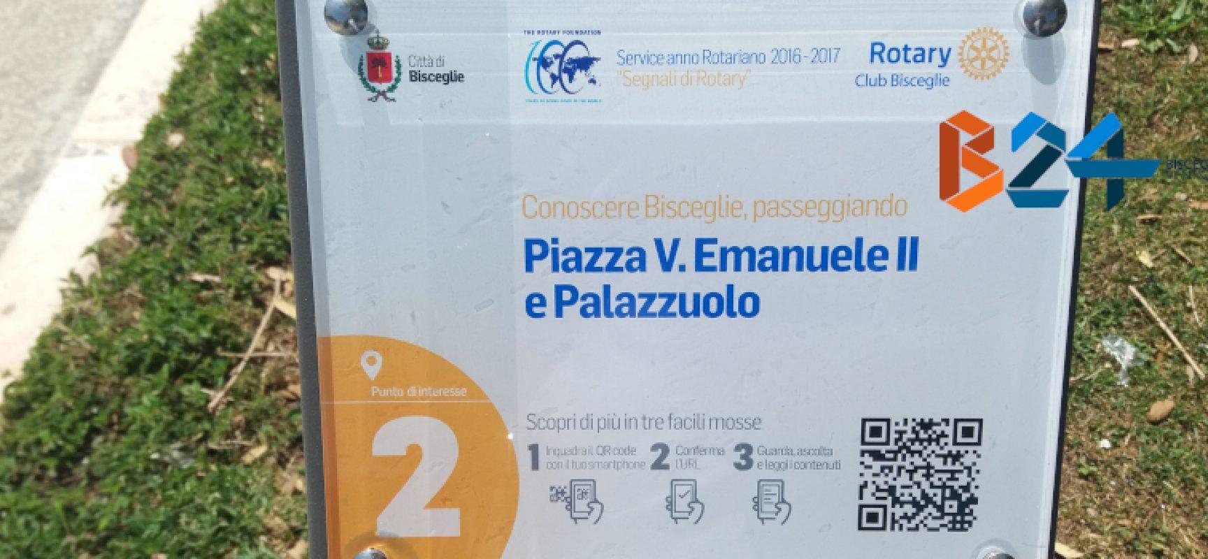 Il Rotary Bisceglie consegna diciotto paline multimediali per conoscere meglio la città