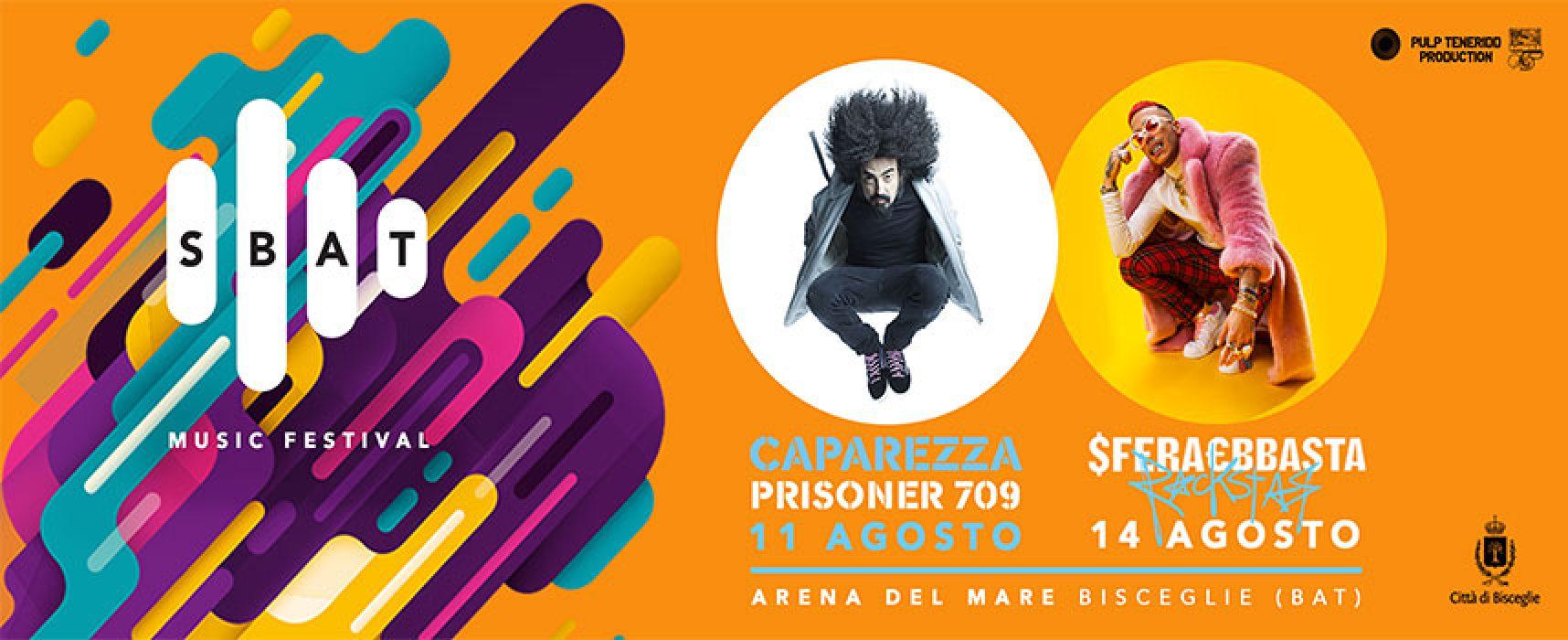 Lo Sbat! Music Festival approda a Bisceglie con Caparezza e Sfera Ebbasta