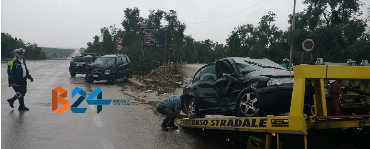 Scontro tra due auto sulla provinciale 85, feriti due biscegliesi