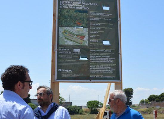 Via San Martino, posata la prima pietra della nuova area mercatale polifunzionale