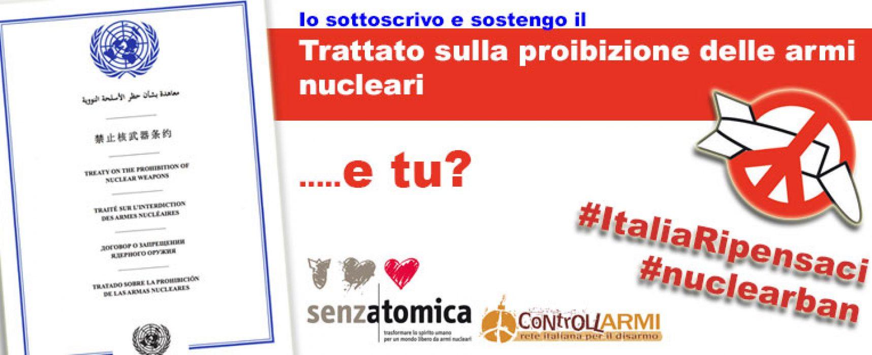 """""""Italia, ripensaci"""", dibattito su trattato sulla proibizione delle Armi Nucleari"""
