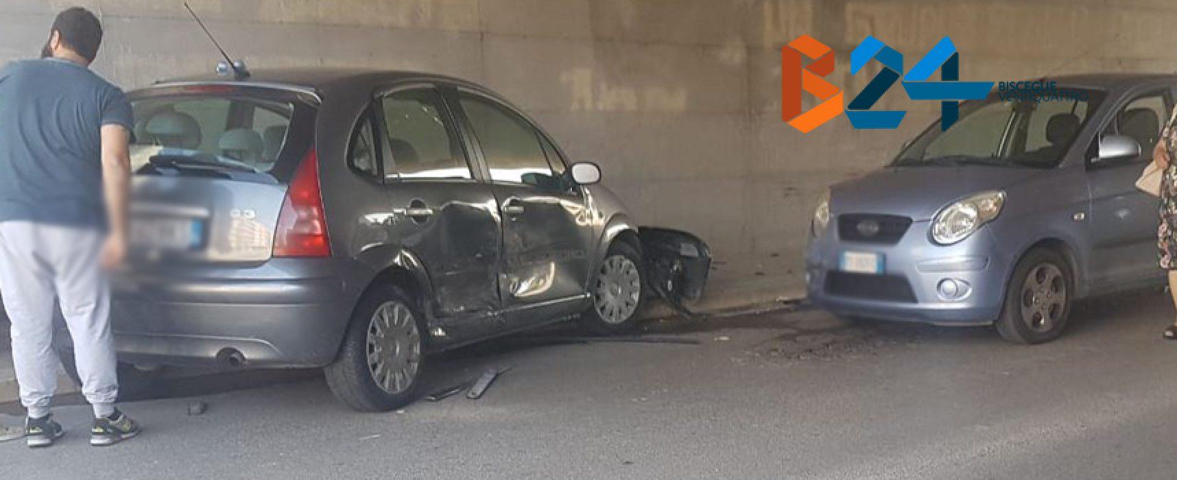 Auto si schianta in sottovia via Ruvo, coinvolta altra auto