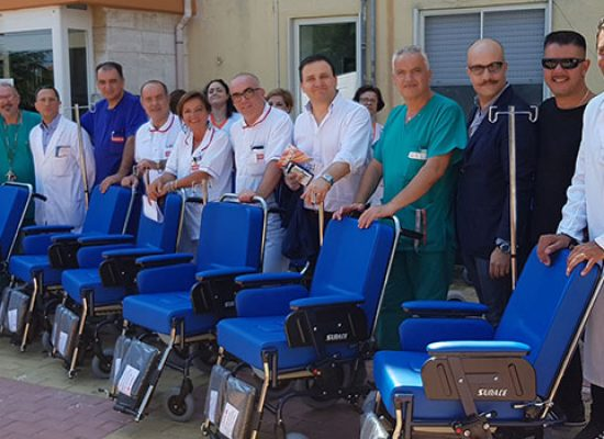 Asl Bt distribuisce 163 carrozzine, tra gli ospedali selezionati c'è anche Bisceglie