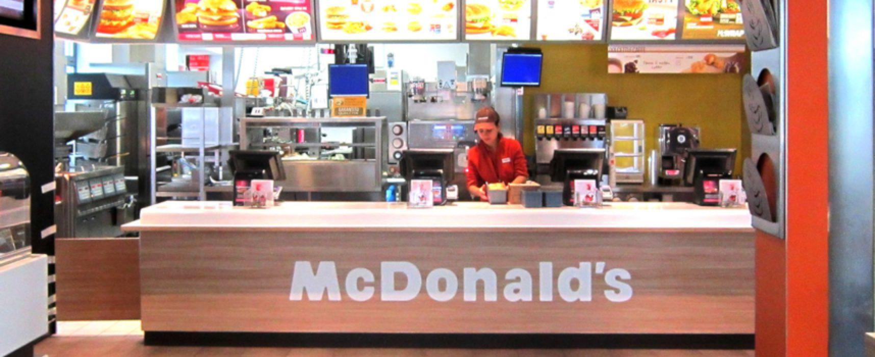 McDonald's offre opportunità di lavoro nelle sedi di Bisceglie e Molfetta