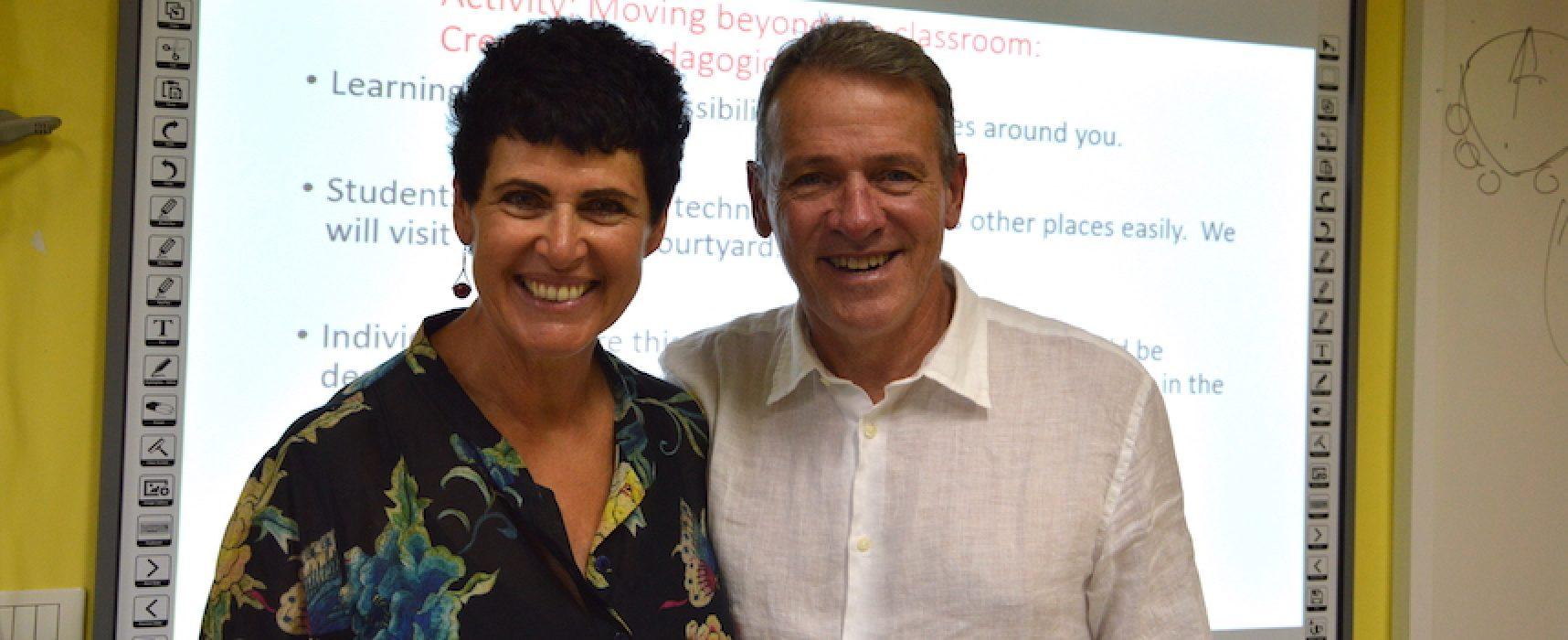 I professori Rosa Storelli e Peter Jamieson dall'Australia a Bisceglie per la scuola Monterisi